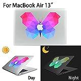 MacBook Air Aufkleber, AKPATI Haut Aufkleber Removable Leuchtender Aufkleber Skin Laptop Decal Sticker Abdeckung Abziehbild für MacBook Air 13 Zoll - Butterfly #2 Pattern