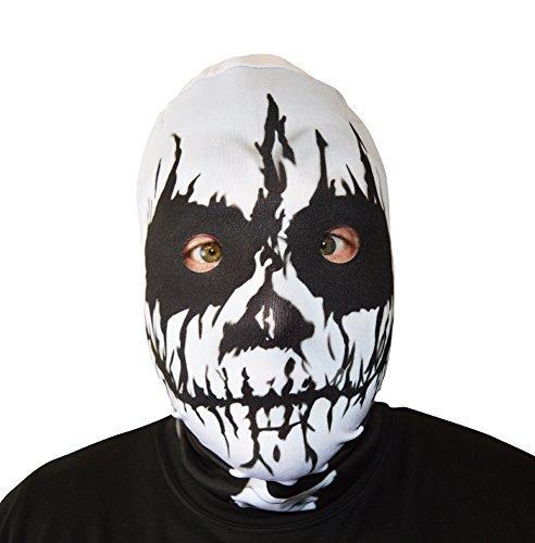 3D Effekt Voodoo Skull Face Haut Sensenmann Halloween Horror Maske hergestellt in - Für Clown-kostüme Professionelle Erwachsene