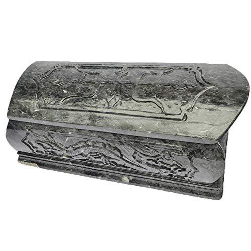 QNMM Ataúd para Mascotas A Prueba De Humedad Exquisito Patrón De Jade Ataúd Funerario para Mascotas De Piedra para El Funeral De Mascotas Perros Y Gatos Adecuado para Mascotas Pequeñas Y Medianas