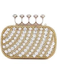 S Lady Design Damentasche Tasche Clutch Handtasche Abendtasche Brauttasche mini Bag mit Strass fuer Party Hochzeit,Gold