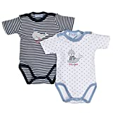 SALT AND PEPPER Baby-Jungen BG Body Set, Mehrfarbig (Original 099), 74