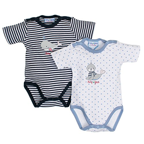 SALT AND PEPPER Baby-Jungen Body BG Set, Mehrfarbig (original 099) 56