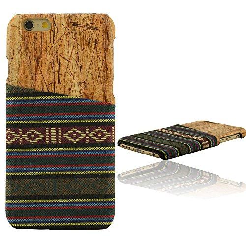 Naturale Wood Legno Grano, Maglione Stoffa Aspetto, iPhone 6 Plus Custodia, iPhone 6S Plus Custodia, Copertura per iPhone 6 Plus 6S Plus, Case 5.5 Pollice (non includere liPhone 6 4.7 pollici) C