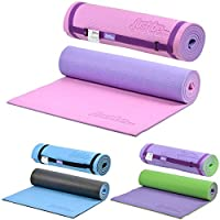 just be...…® 10mm Thick 2-Tone Exercise Yoga Mat – 180cm - 10mm Foam with Colour Coded Carry Strap