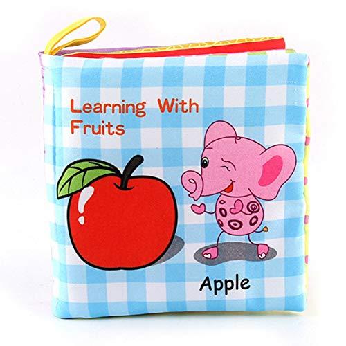 Bad Englisch Cartoon Tier Tuch Buch frühen Lernspiele Spielzeug Weihnachten Geburtstagsgeschenke für Kinder Kinder ()