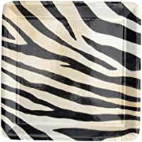 10 piatti dolce quadrati zebra 19 cm