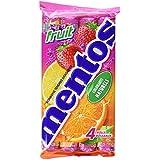 Mentos Bonbons Tendres aux Fruits 4 Rouleaux de 38 g