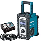 Makita DMR109 DAB 10.8v-18v LXT/CXT LI-ion Job Site Radio With 2 x 4.0Ah BL1840 Batteries & DC18RC