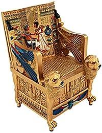 Design Toscano du roi Tut Doré Trône Boîte à trésors