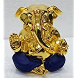 Gold Plated Lord Ganesh (4.5x4x3cm)/ Ganesha Online/ God Ganesh Idol/ Vinayaka Idol/ Gold Ganesha/ Vinayaka Statue/ Car Ganesh/ Vinayagar/ Car Dashboard Ganesha/ Ganesh Murti/ Ganesh Online Shopping