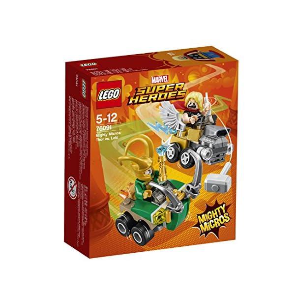LEGO-Super-Heroes-Mighty-Micros-Thor-Contro-Loki-Multicolore-76091