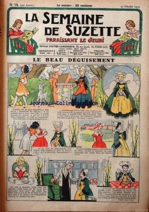 SEMAINE DE SUZETTE (LA) [No 13] du 23/02/1933 - LE BEAU DEGUISEMENT - BECASSINE DANS LA NEIGE