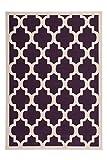 Lalee Teppich Wohnzimmer modern Carpet geometrisches Design Rug Manolya 2097 Lila 120x170cm   Teppiche günstig online kaufen