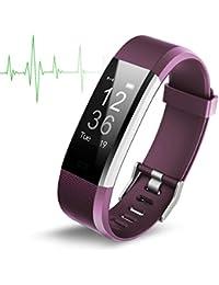Monitor de Frecuencia Cardiáco, TechCode Impermeable Fitness Tracker Actividad Bluetooth con Pulsometros Reloj inteligente Pulsera