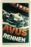 AVUS Racing 1935-Póster de carreras Réplica Auto Car 20x 30cm cartel de chapa 1577