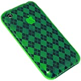 Amzer Luxe Argyle Skin Coque à motif jacquard pour iPhone 3G / iPhone 3G S Vert...