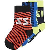 Adidas Messi Kids Sock Calcetines, Unisex niños, Maruni/Azul/Rojsol, 31/34