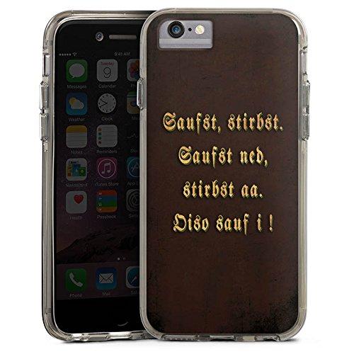 Apple iPhone 8 Bumper Hülle Bumper Case Glitzer Hülle Bayern Bavaria Saufen Bumper Case transparent grau