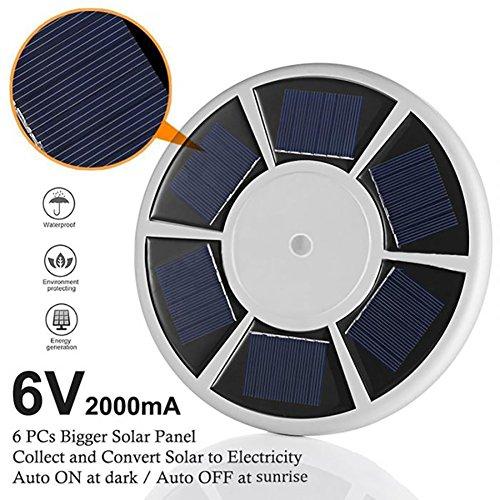 AimdonR Fahnenmast Lamp ,Solarenergie & 2000mm电池,26LED,Automatischer Schalter, Solar Flag Pole Lichter (Pole-licht-schalter)
