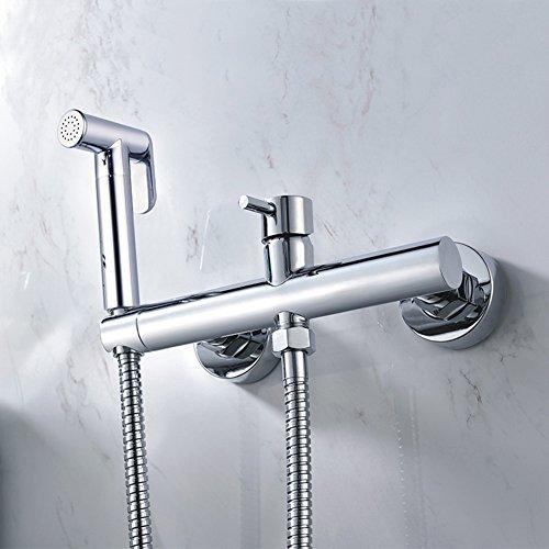 HCP Tout cuivre bidet chaude et froide/angle de toilettes costume soupape de pistolet/irrigator Bidet