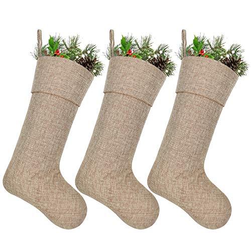 ivenf 12Stück 3D Mini Jute Weihnachten Strümpfe Large Burlap Stockings (Bulk Mini Strümpfe)