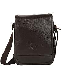 KLARK Unisex Sling Bag (Brown, FMS-786 BROWN)