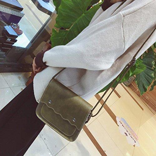 BZLine® Frauen Umhängetasche Clutch Shopper Handtasche Hobo MessengerTote, 19cm*16*6cm Grün