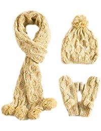 Amazon.fr   Jaune - Packs bonnet, écharpe et gants   Accessoires ... 54034ce7d1a