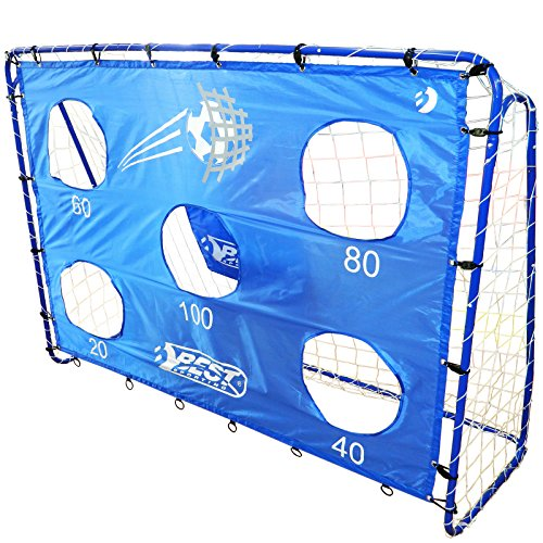 Best Sporting portería de fútbol con 5disparos. Agujeros, 40cm, Jardín y niños füßbal–Portería o individualmente, Fußballtor inklusive Torwand