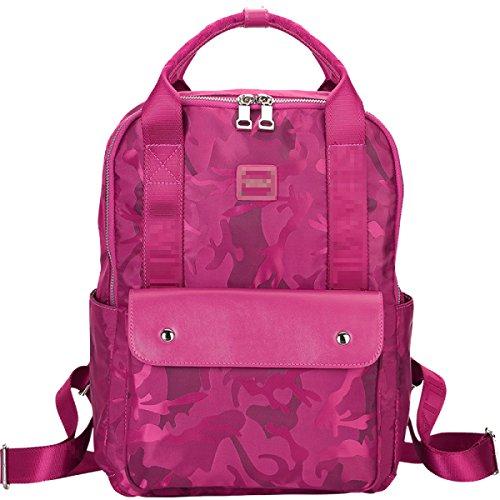 Frauen Leder Rucksack Für Mädchen Kordelzug Schultasche Casual Daypack Pink