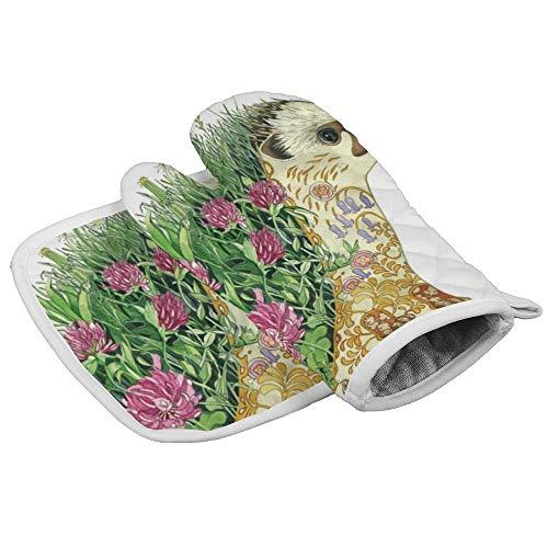 Illustration Bird hurón profesional resistente al calor para horno de microondas, aislamiento de horno...
