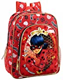 Safta Mochila Escolar Junior Ladybug 'Sparkle' Oficial 320x120x380mm