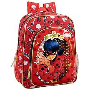 "51hGYpfRtaL. SS300  - Safta Mochila Escolar Junior Ladybug ""Sparkle"" Oficial 320x120x380mm"