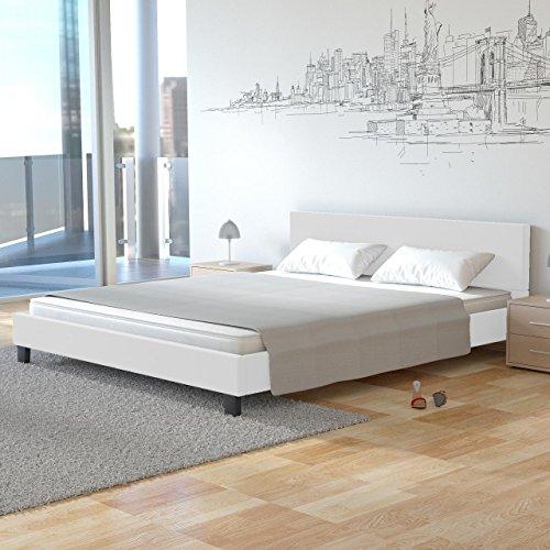 Homelux PU Bett Polsterbett Doppelbett Kunstlederbett Bettgestell Bettrahmen Größen