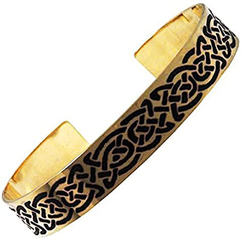 Handcrafted ottone inciso, Celtic Knot, Moda braccialetto del braccialetto, Simboleggia Eternity