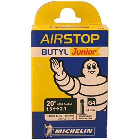 Michelin AIRSTOP BTT JUNIOR - Camara de bicicleta 37/54-390/406 Standard 34 mm