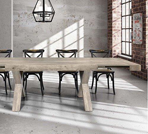 L'Aquila Design Arredamenti Table & Chairs Ausziehtisch mit Struktur und Plan in Holz gealtert 180x 90818 -