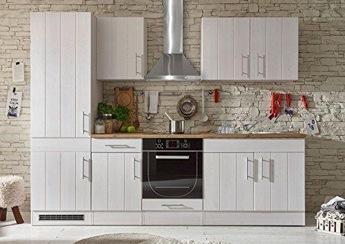 Stella Trading Landhaus 2 Küche, Küchenblock ohne E-Geräte, Holzdekor, Sibiu Lärche, (B/H/T) 270 x 211 x 60 cm