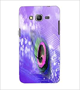 PrintDhaba Peacock Feather D-4934 Back Case Cover for SAMSUNG GALAXY GRAND PRIME (Multi-Coloured)