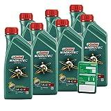 7x 1 L = 7 Liter Castrol Magnatec Diesel 5W-40 DPF Motor-Öl inkl. Ölwechsel-Anhänger