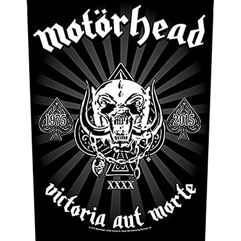 Motörhead Back Patch espalda parche # 15Victoria aut Morte Negro negro talla única
