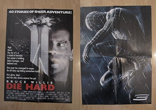 Poster doble cine: Die Hard y Spiderman 3