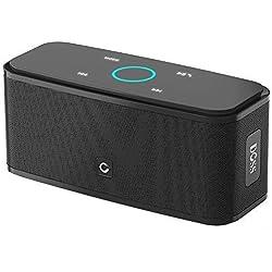 Enceinte Bluetooth 12W, DOSS SoundBox Haut-Parleur Bluetooth sans Fil Portable,Commande Tactile et Définition Stéréo, 12 Heures d'Autonomie en Lecture,Mains Libres Téléphone, Carte TF Support.-Noir