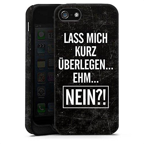 Apple iPhone X Silikon Hülle Case Schutzhülle Sprüche Statements Humor Tough Case matt