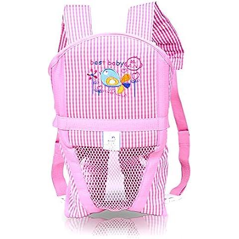 Bambino appena nato spalla portante multifunzionale Baby Back Pocket traspirante maglia di stile per bambini per bambini e la mamma