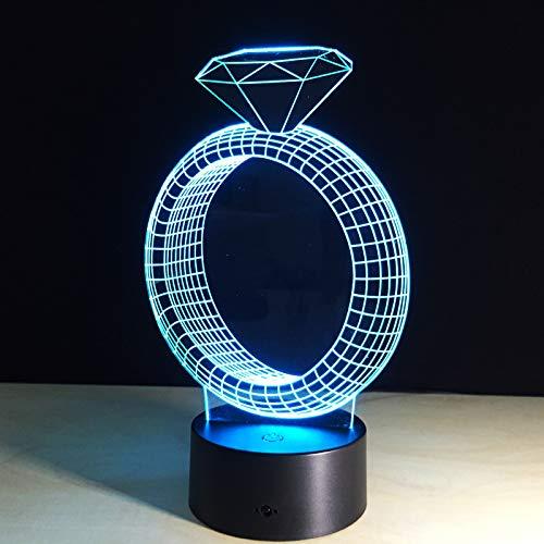 YXRPK 3D Veilleuse Modèle LED Night Light 7 Changement De Couleur D'ambiance Lumière USB Illusion Lampe De Table Décor À La Maison Drop Shipping