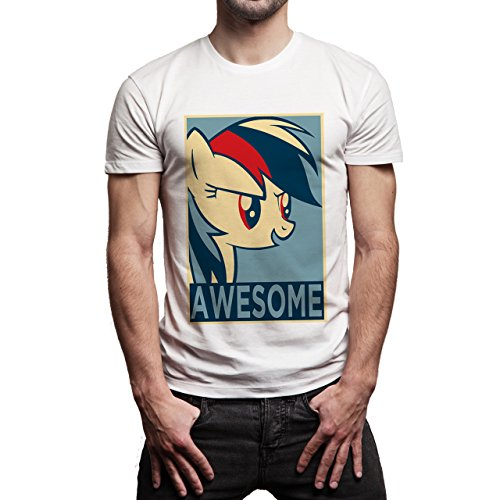 SWAG Awesome Looking A Side Unicorn Herren T-Shirt Weiß