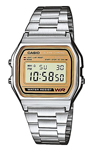 Casio Collection Unisex Retro Armbanduhr A158WEA-9EF - Casio Gold Watch