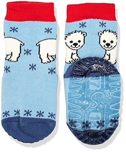 Sterntaler Baby-Jungen Socken Fli Fli Soft Eisbär, Blau (Himmel 325), 24