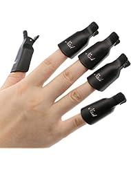 Voberry® 10PCS Noir Pinces à Ongles en Plastique / DIY Outil de UV Pellicule de Vernis à Ongles / Utilisation Simple et Rapide